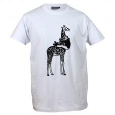 T-shirt Man met giraffe